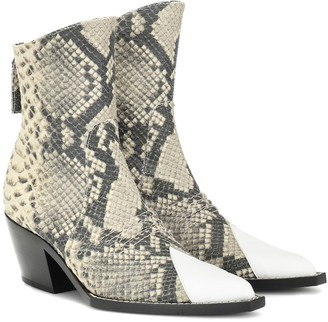 Alyx Tex leather ankle boot