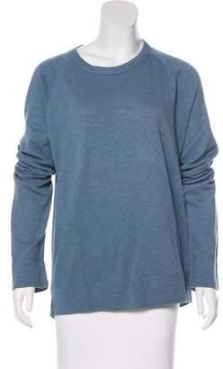 James Perse Long Sleeve Scoop Neck Sweatshirt