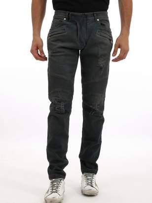 Balmain Biker Washed Cotton Jean