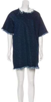 Marques Almeida Marques' Almeida Denim Mini Dress