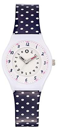 Lulu Castagnette Girl's Quartz Watch with Silver Dial Analogue Display and Plastic Multicolour - 38798