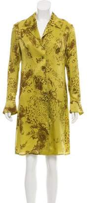 Salvatore Ferragamo Printed Silk Shirtdress