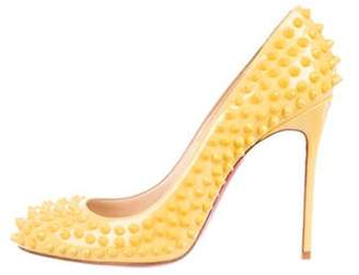 Christian Louboutin Fifi Spikes 100 Patent Leather Pumps Yellow Fifi Spikes 100 Patent Leather Pumps
