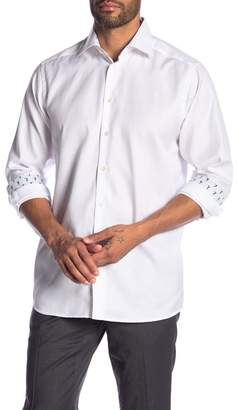 Eton Contrast Cuff Long Sleeve Contemporary Fit Shirt