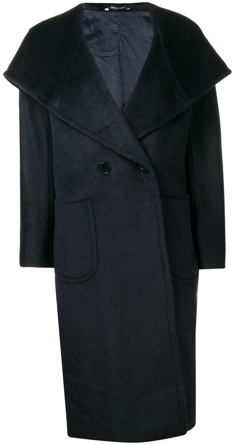 double breasted mid-length coat