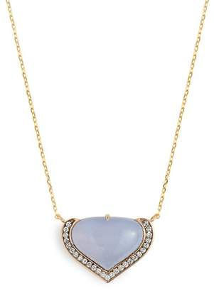 Noor Fares - Vishuddha Diamond & 18kt Gold Necklace - Womens - Grey
