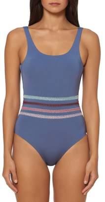 Dolce Vita Crochet Stripe One-Piece Swimsuit
