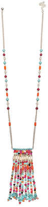 MIXIT Mixit Clr 0318 Turq Muti Womens Beaded Necklace