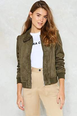 Nasty Gal What a Thrill Vegan Suede Jacket
