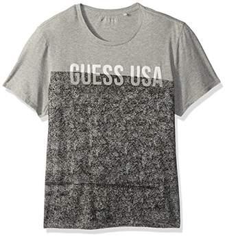 GUESS Men's Color Block Crew Neck T-Shirt