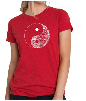 Yin & Yang Women Premium Word Art T-Shirt - Yin Yang