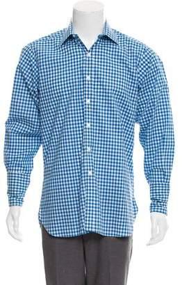 Turnbull & Asser French Cuff Gingham Shirt