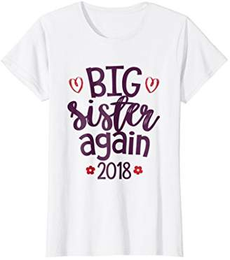 Big sister again T-shirt - Sibling older daughter gift shirt