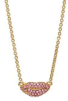 Kate Spade Pavé Lip Mini Pendant Necklace