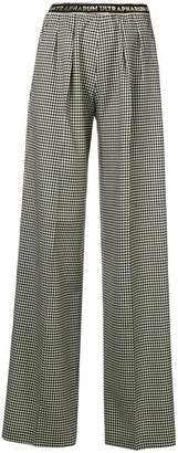 Marco De Vincenzo houndstooth wide-leg trousers