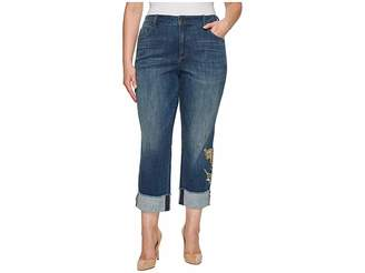NYDJ Plus Size Plus Size Marilyn Ankle w/ Applique Cuff in Desert Gold Women's Jeans