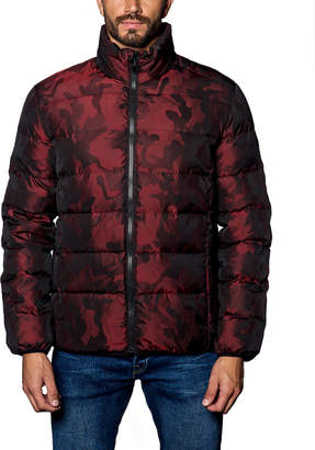 Jared Lang Heavy Quilted-Puffer Jacket, Red Camo