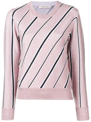 Cédric Charlier striped long-sleeve sweater