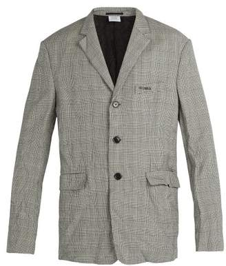 Vetements Wrinkled Suit Jacket - Mens - Grey