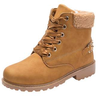 271b055fca5 Vitalo Womens Faux Fur Lined Warm Winter Lace Up Flat Ankle Chukka Boots  Size