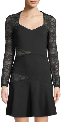 Ali & Jay Larc Long-Sleeve Contrast-Lace Dress
