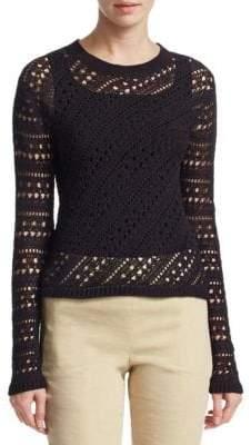 Theory Crochet Crewneck Sweater