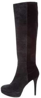 Stuart Weitzman Suede Platform Knee-High Boots