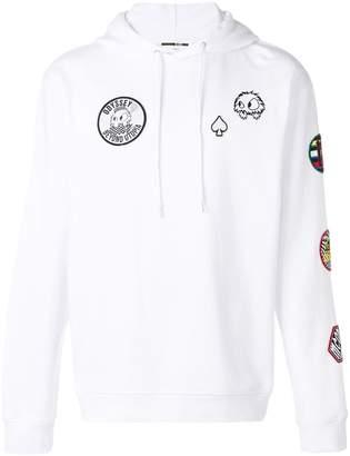 McQ patch detail hoodie