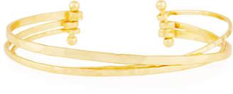 Panacea Gold-Plated Crisscross Multi-Row Cuff Bracelet