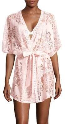 Flora Nikrooz Lace-Embroidered Robe
