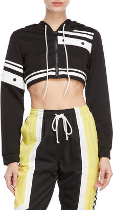 Hot & Delicious Cropped Color Block Hoodie