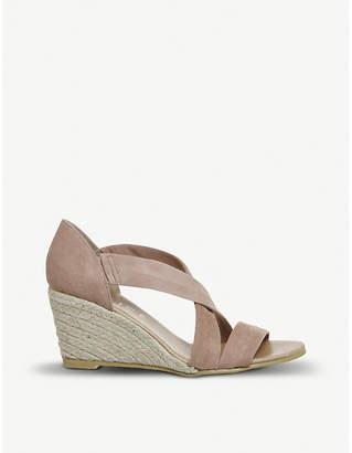 Office Maiden suede wedge sandals