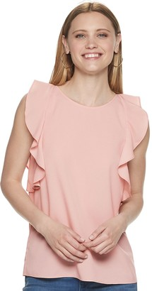 Juicy Couture Women's Ruffled Sleeve Tank Top