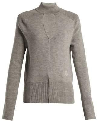 Chloé Keyhole Wool Blend Sweater - Womens - Grey