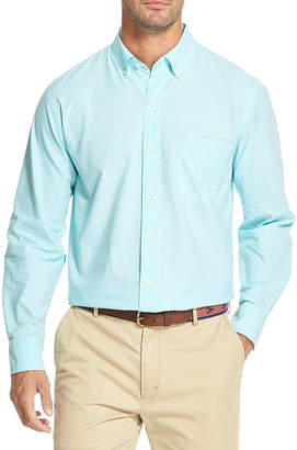 Izod Newport Oxfords Mens Long Sleeve Button-Front Shirt