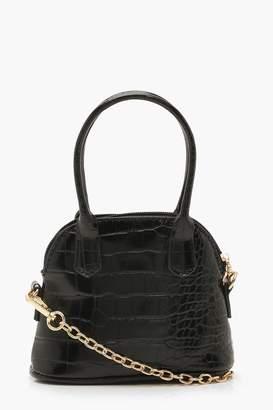 boohoo Croc Mini Handle Grab Bag