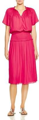 Halston Flutter Sleeve Dress
