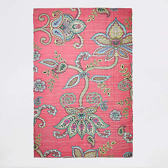 River Island Recycled large Pink floral printed rug