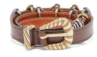 Etro Buckle-embellished leather belt