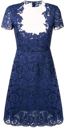 Valentino floral lace midi dress