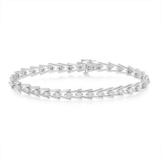 FINE JEWELRY 1/2 CT. T.W. White Diamond Sterling Silver 7 Inch Tennis Bracelet