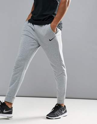 Nike Training Dri-Fit Fleece Tapered Joggers In Grey 860371-063