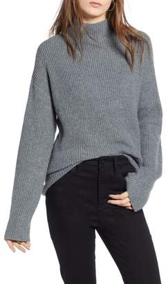 Treasure & Bond Ribbed Funnel Neck Sweater