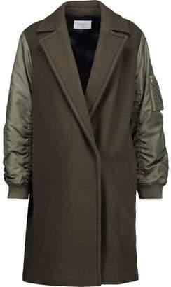 Sandro Lazarus Shell-Paneled Wool-Blend Felt Coat