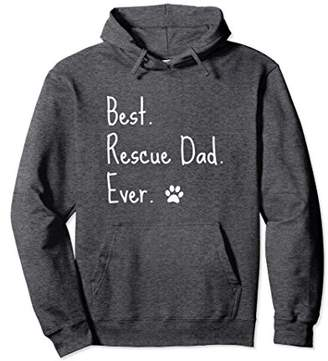 Dog Rescue Hoodie Best Rescue Dad Ever Paw Print Tshirt Gift