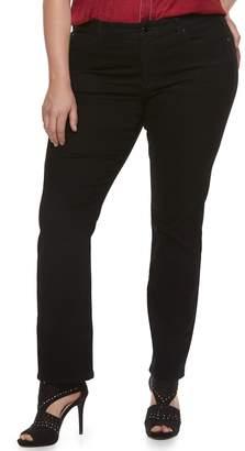 JLO by Jennifer Lopez Plus Size MidRise Straight-Leg Jeans