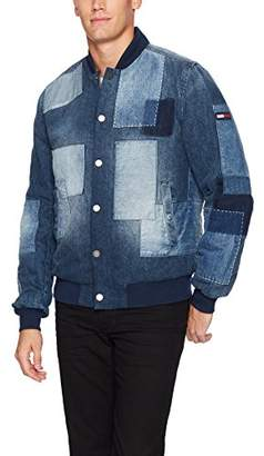 Tommy Hilfiger Tommy Jeans Men's Bomber Jacket with Denim Patchwork