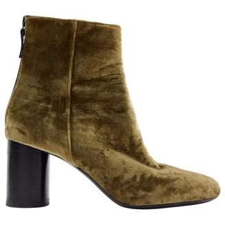 Sandro Green Velvet Ankle boots