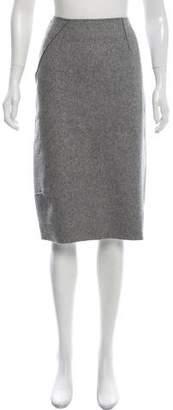 Alberta Ferretti Wool-Blend Pencil Skirt