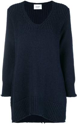 Dondup frayed hem oversized sweater